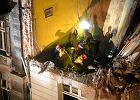 Wybuch gazu zniszczy� kamienic� w Katowicach. Akcja zako�czona, trzy osoby nie �yj�