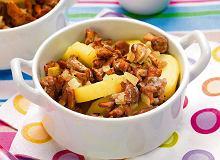Młode ziemniaki zapiekane z grzybami - ugotuj