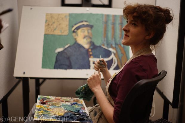 Plan malarski animacji   ''Twoj Vincent ''/ ' Loving Vincent ' w rezyserii Doroty Kobieli w Centrum Technologii Audiowizualnych (CeTA) we Wroclawiu