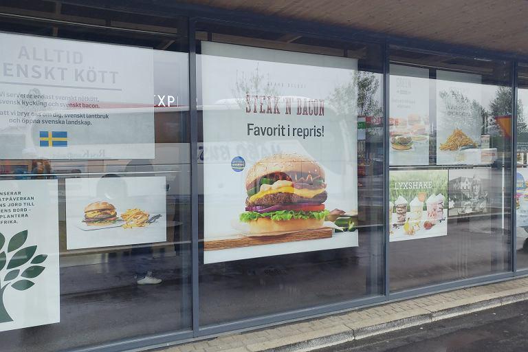 Restauracja Max Burgers w Szwecji
