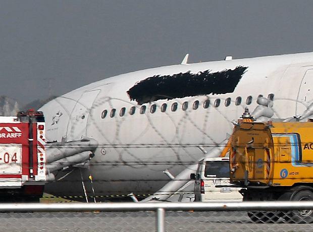 Wypadek podczas l�dowania samolotu w Bangkoku. 14 os�b rannych