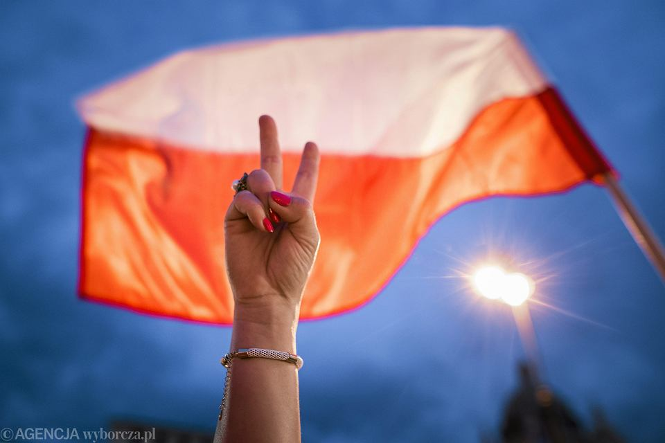 23.07.2017 Lublin . Szósty dzień protestu w obronie niezależności polskiego sądownictwa