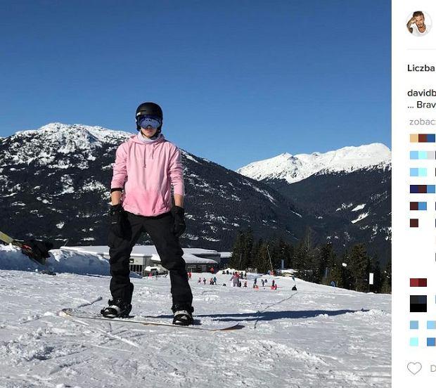 Zdjęcie numer 3 w galerii - Rodzina Beckhamów w górach. Harper uczy się jeździć na nartach! Nie obyło się bez WYPADKU. Zobaczcie nagranie