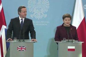 """Cameron w Polsce. Szyd�o: """"Polsce zale�y na tym, aby Wielka Brytania dalej by�a cz�onkiem UE"""""""
