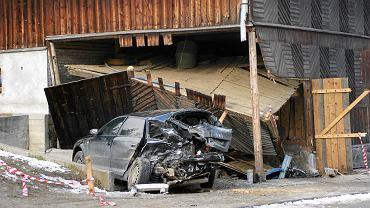 Wypadek w Brzegach na Podhalu