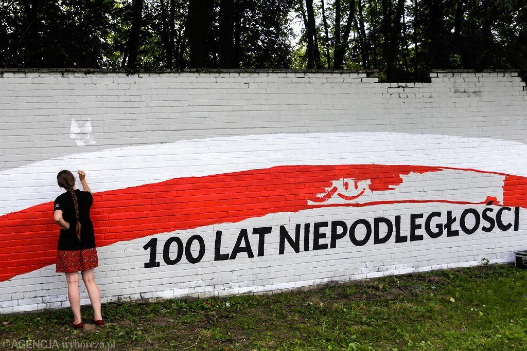 Mural na 100-lecie Niepodległości