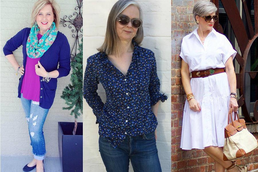 Blogerki modowe 50+ - trzy ubrania a174f0c089