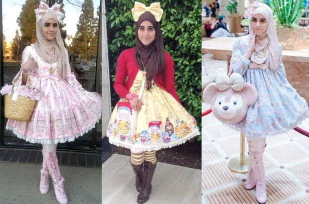 Lolity w hid�abach - styl, kt�ry ��czy islam i Japoni�