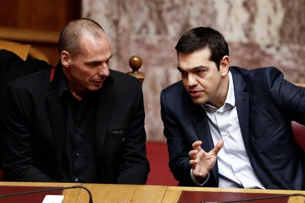 Janis Warufakis i Aleksis Cipras