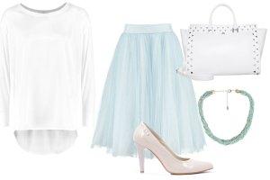 Błękit i biel - delikatne i romantyczne stylizacje na randkę