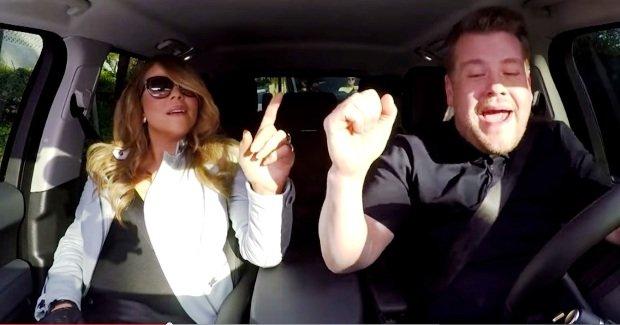"""Gwiazdy wcale się tak od nas nie różnią, na przykład także uwielbiają śpiewać w samochodzie! Dowodzi tego chociażby Mariah Carey, w jednym z odcinków talk show """"The Late Late Show""""."""