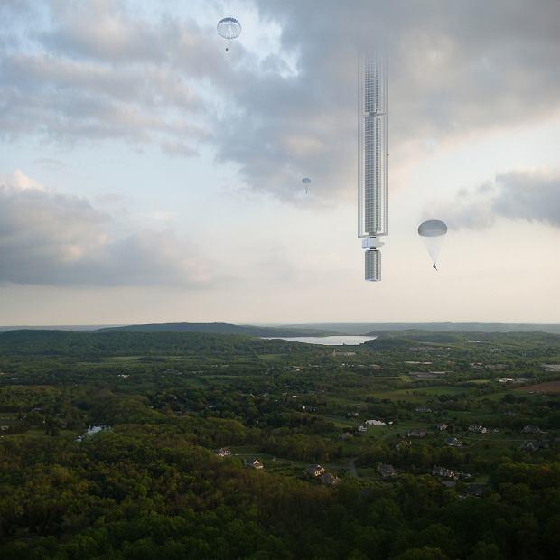 Zobaczcie koncepcję 50-kilometrowego budynku zwieszonego z satelity
