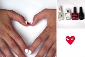 Znudzi� ci si� zwyk�y manicure, ale masz kr�tkie paznokcie? Zobacz, jak wykona� prosty wz�r inspirowany Comme des Garcons