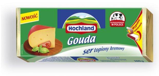 NOWO�� - Hochland Gouda bloczek topiony