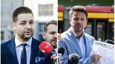 Wybory samorządowe w Warszawie 2018. Patryk Jaki i Rafał Trzaskowski o komunikacji miejskiej