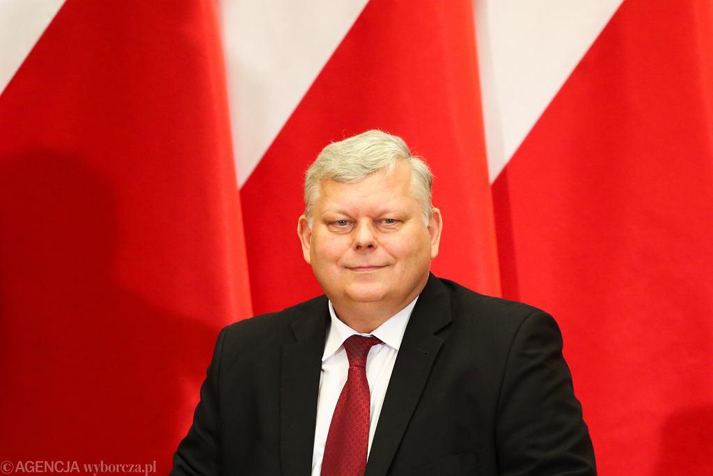 Poseł PiS Marek Suski podczas spotkania premiera rządu PiS z mieszkańcami. Kraków, Uniwersytet Rolniczy, 15 kwietnia 2018