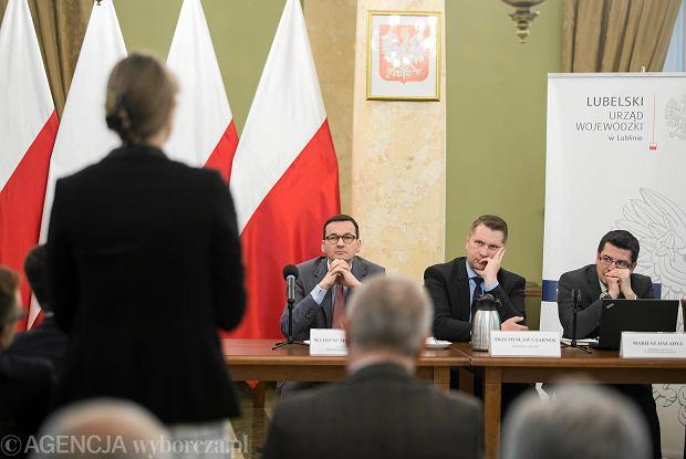 Lublin. Wicepremier Mateusz Morawiecki podczas spotkania z przedsiębiorcami