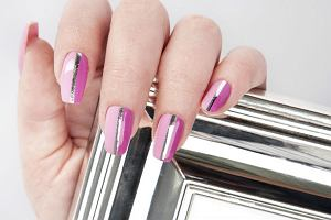 Manicure DIY - ch�odne srebro i s�odki r�