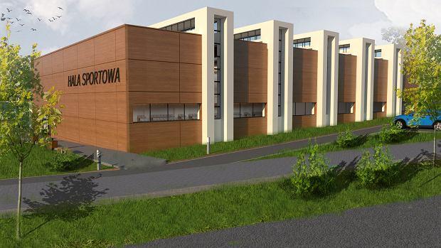 Wizualizacji nowej hali sportowej przy ZSP nr 1 w Kielcach