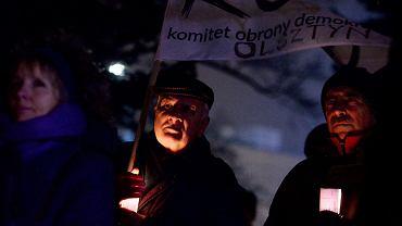 Protest w Olsztynie w obronie niezależnych sądów