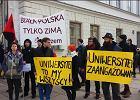 """Protest pod bramą UW po akcji rekrutacyjnej ONR. """"Nie dla getta ławkowego"""""""