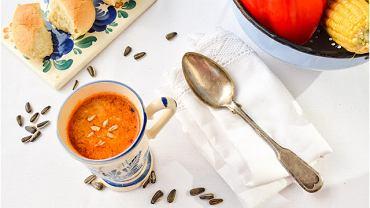 Zupa minestrone z pieczoną papryką