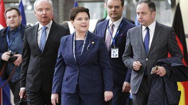 Beata Szydło i przedstawiciele polskiego rządu w Brukseli