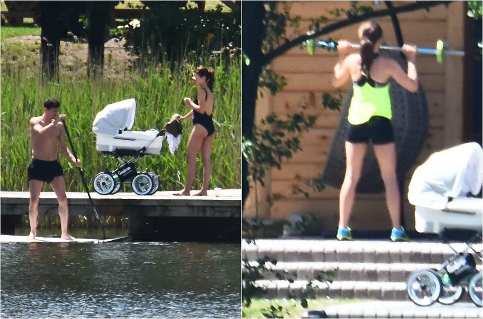 Zdjęcie numer 0 w galerii - Anna Lewandowska w kostiumie kąpielowym. Potem zaczyna ćwiczyć. A Robert? Bierze na ręce Klarę. Urocze!