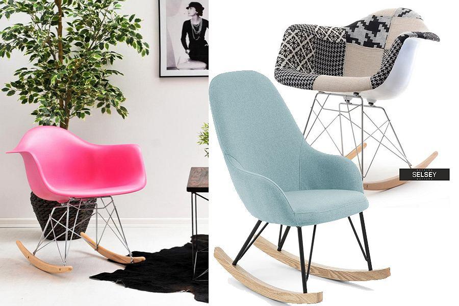 Kolorowe fotele bujane