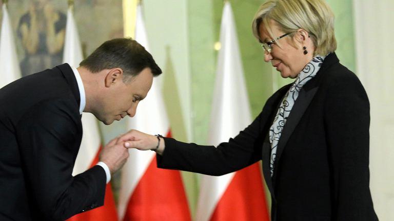 Sędzia Julia Przyłębska i prezydent Andrzej Duda