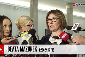 Beata Mazurek po oświadczeniu prezydenta: Nie wstrzymujemy prac nad ustawą o Sądzie Najwyższym