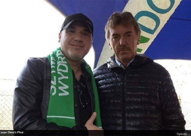 Szymon Wydra i Zbigniew Boniek