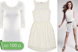 22bb55fa6a HIT  białe sukienki na wiosnę i lato 2013 do 100 zł