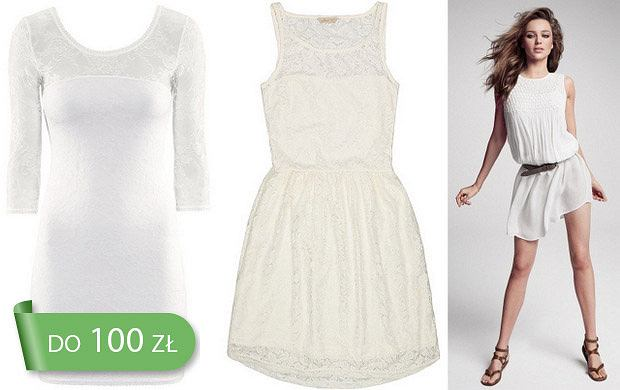 HIT: białe sukienki na wiosnę i lato 2013 do 100 zł