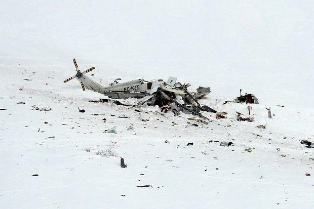Sześć osób zginęło w katastrofie śmigłowca we Włoszech. Lecieli ratować narciarza