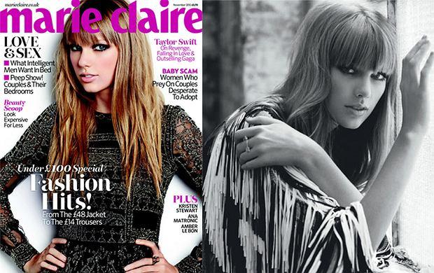 """Taylor Swift w stylu lat 70. dla """"Marie Claire"""" [ZDJ�CIA + WYWIAD]"""