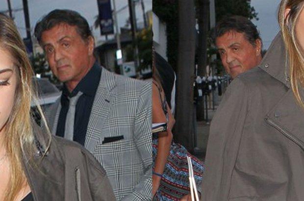 Sylvester Stallone robi si� ca�kiem niewidoczny. Ale nie mo�e by� inaczej, gdy obok s� ONE. Trzy c�rki i wszystkie takie �liczne!