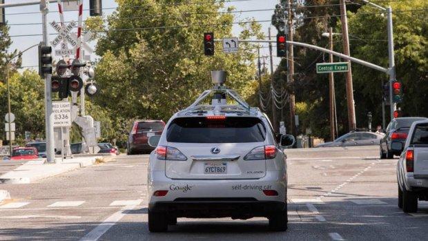 Wypadek samochodu Google'a