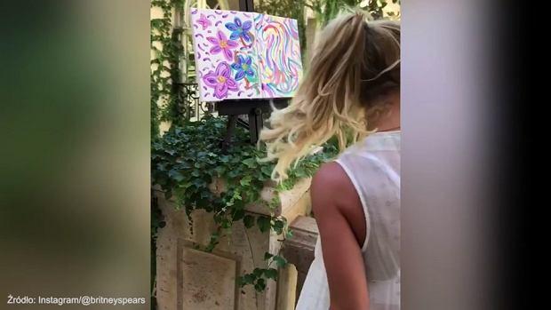 Britney Spears odkryła w sobie nowy talent. Poza śpiewaniem, artystka... maluje również obrazy. Co więcej, sprzedaje je!