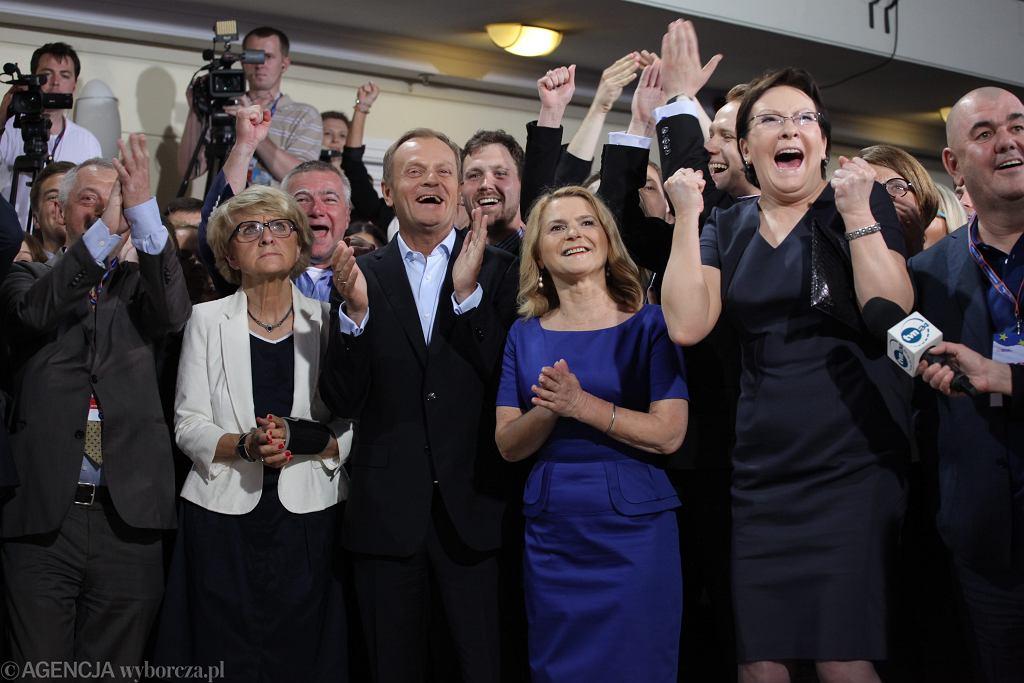 Wieczór wyborczy w PO, 2014 rok (fot. Sławomir Kamiński/AG)