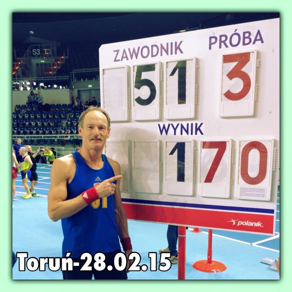 Dariusz Bednarski z dumą prezentuje rekordowy wynik