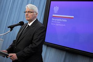 Waszczykowski: List senatorów USA wynikł z inspiracji ludzi, którzy źle życzą Polsce
