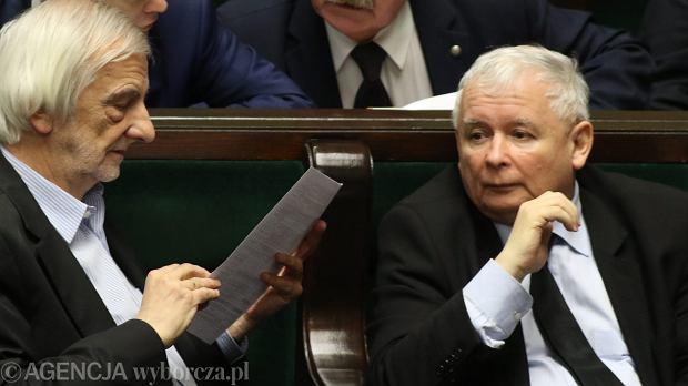 Jaros�aw Kaczy�ski i Ryszard Terlecki