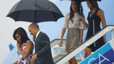 Barack Obama, Michelle Obama, Malia Obama, Sasha Obama,