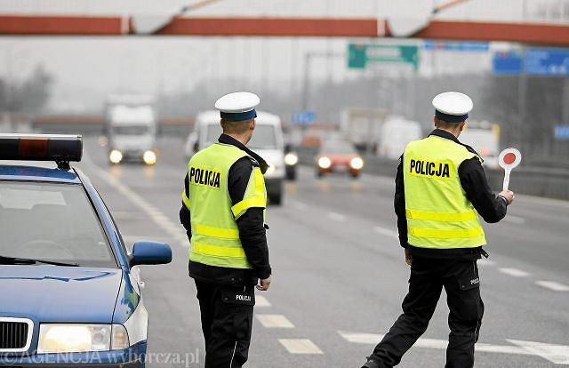 Kontrola policji drogowej