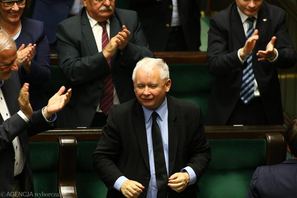 Jarosław Kaczyński w Sejmie w czasie prac nad reformą sądownictwa