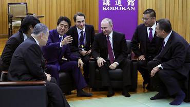 Spotkanie rosyjskiego prezydenta Władimira Putina i japońskiego premiera Shinzo Abe w Japonii w tokijskiej siedzibie federacji judo.