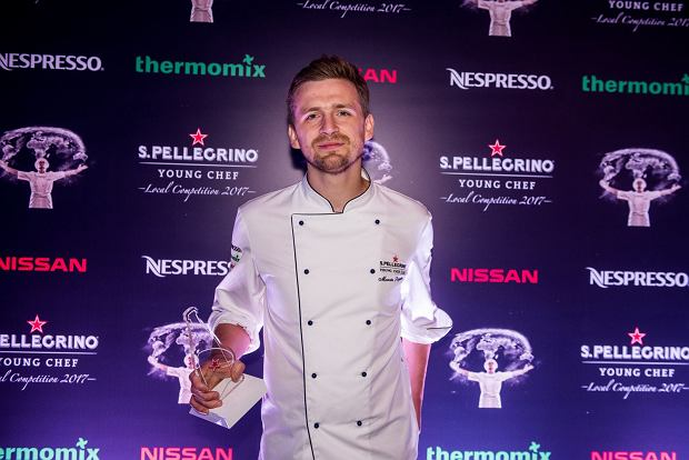 Marcin Popielarz z restauracji Biały Królik w Gdyni w pierwszej trójce S.Pellegrino Young Chef 2018
