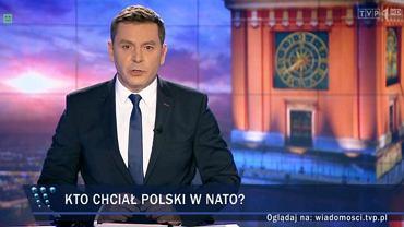 """Kadr z wydania """"Wiadomości"""" wyemitowanego 7 lipca"""