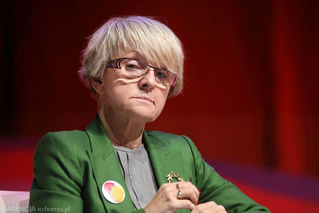 Prof. Danuta Huebner - pierwszy polski komisarz unijny. W ostatnich wyborach zdobyła ponad 225 tys. głosów - to drugi wynik w Polsce